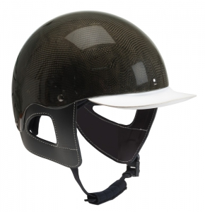 Casque carbone Wahlsten avec attaches en cuir. Conforme...